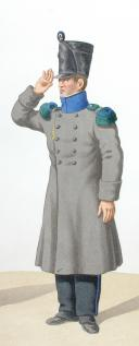 Photo 2 : 1820. Légions Légères. Officier (85e Légion - des Voges), Chasseur (4e Légion - des Basses Alpes).