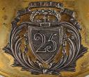 Photo 2 : HAUSSE-COL D'OFFICIER DE LA 25ème DEMI-BRIGADE D'INFANTERIE DEVENUE RÉGIMENT DE LIGNE APRÈS 1803, CONSULAT.