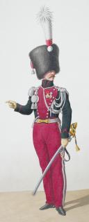 1830. Garde Royale. Chasseurs. Sous-Lieutenant, Chasseur, (2)
