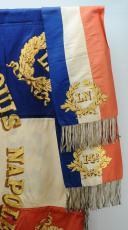 Photo 3 : DRAPEAU DU 14e BATAILLON DE LA GARDE NATIONALE DE LA SEINE, MODÈLE 1852, PRÉSIDENCE DE LOUIS NAPOLÉON.