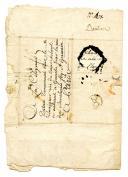 Photo 3 : LETTRE DU SOLDAT DANTAN, CAPORAL DES CANONNIERS AU 9è BATAILLON À L'ARMÉE DES PYRÉNÉES, À SA FEMME À PARIS, 7 fructidor an 2, 1794.