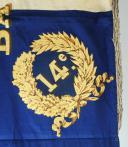 Photo 4 : DRAPEAU DU 14e BATAILLON DE LA GARDE NATIONALE DE LA SEINE, MODÈLE 1852, PRÉSIDENCE DE LOUIS NAPOLÉON.