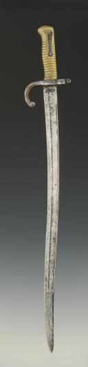 Photo 4 : SABRE BAÏONNETTE CHASSEPOT, MODÈLE 1866, SECOND EMPIRE.