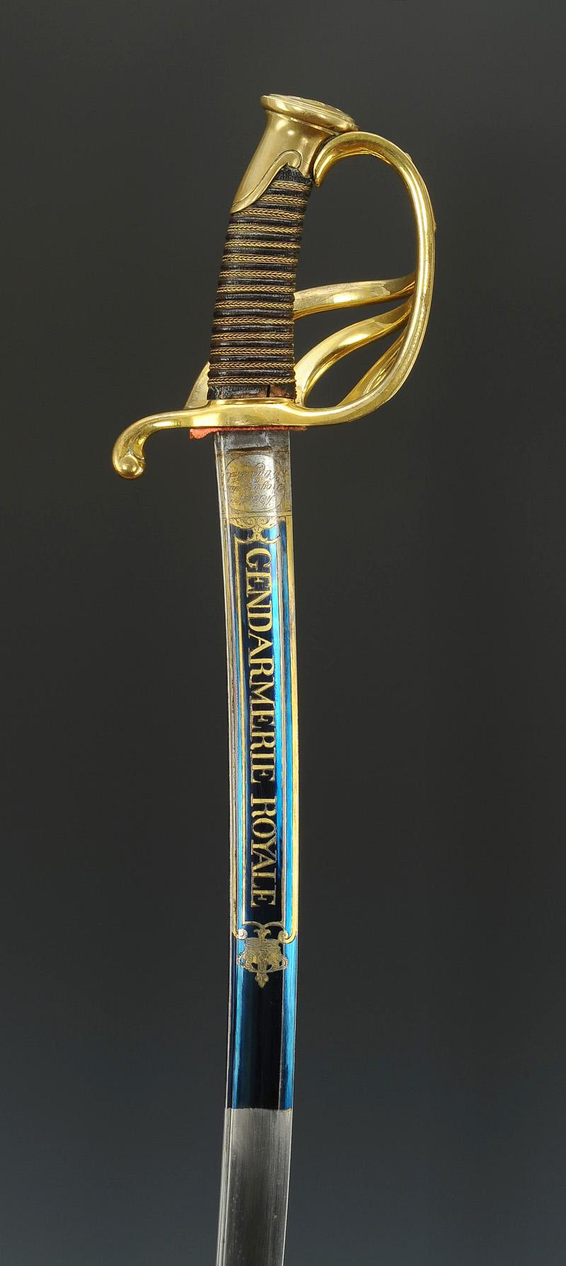 sabre d u0026 39 officier subalterne de la gendarmerie royale