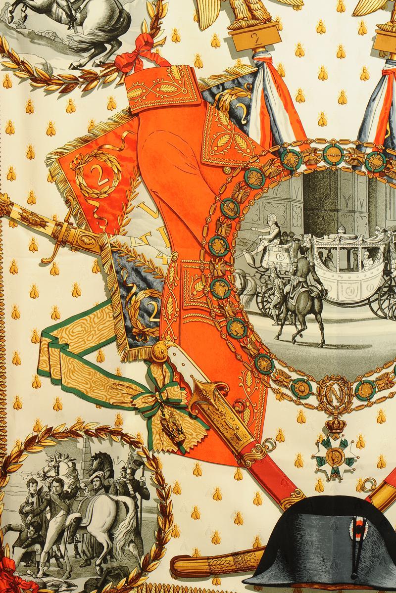 CARRÉ HERMÈS PARIS « NAPOLÉON » SIGNÉ PHILIPPE LEDOUX, XXème siècle. 325a961782c