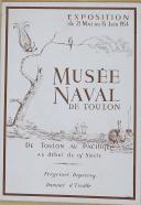 """"""" Musée Naval de Toulon """" - Exposition du 21 mai au 15 juin 1954 - Freycinet, Duperrey et Dumont d'Urville"""