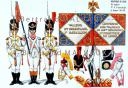 RIGO (ALBERT RIGONDAUD) : LE PLUMET PLANCHE 180 : INFANTERIE DE LIGNE 125e REGIMENT 1er, 2e, 3e PORTE-AIGLES ET DRPEAU 1811-1812.