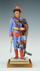 FIGURINE EN PORCELAINE PAR VAN GERDINGE, OFFICIER DE BERCHENY HUSSARDS, 1720-1735, FIGURINE EN PORCELAINE PAR VAN GERDINGE, XX°. (1)