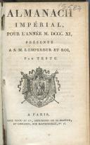 Photo 1 : ALMANACH IMPÉRIAL DE 1811.