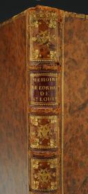 MESLIN ANTOINE-JEAN : MÉMOIRES HISTORIQUES CONCERNANT L'ORDRE ROYAL ET MILITAIRE DE SAINT-LOUIS, ET L'INSTITUTION DU MÉRITE MILITAIRE, 1785.