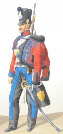Photo 2 : 1818. Hussards. Maréchal des Logis (3e Régiment - de la Moselle), Hussard (4e Régiment du Nord).