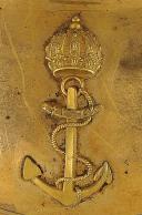 Photo 2 : HAUSSE-COL D'OFFICIER DE MARINE, MODÈLE DU 29 JANVIER 1853, SECOND EMPIRE.