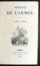 Photo 2 : JOURNAL DE L'ARMÉE. 3 TOMES : 1833 - 1834 - 1836.