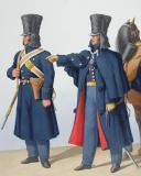 Photo 2 : 1830. Gendarmerie Royale. Départements de la Corse. Gendarme à Pied, Officier.