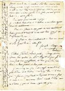 Photo 3 : Armée de Naples. LETTRE DU CARABINIER JOSEPH MONGE, 1er Régiment d'infanterie légère, 3ème compagnie, en garnison en Calabre, À SES PARENTS résidant dans le Pas de Calais, datée de Reggio le 3 avril 1806.