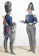 1830. Garde Royale. Grenadiers à Cheval (2e Régiment). Trompette, Maréchal des Logis-Trompette.