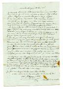 Photo 1 : LETTRE DU SOLDAT JACQUES GUIBERT DEPUIS MERCHELLE (Marseille) À SES PARENTS À ST SYMPHORIEN DE LAY (région de Roanne), 19 août 1792.