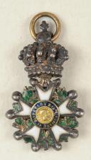 CROIX DE CHEVALIER DE LA LÉGION D'HONNEUR, Miniature, Seconde République, 24 février 1848 - 2 décembre 1852.  (1)