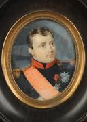 Photo 2 : PORTRAIT MINIATURE  DE NAPOLÉON 1er, milieu 19ème siècle.