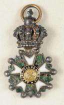 CROIX DE CHEVALIER DE LA LÉGION D'HONNEUR, Miniature, Seconde République, 24 février 1848 - 2 décembre 1852.  (2)