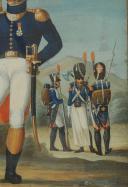 Photo 4 : « MANUSCRIT OTTO DE BADE » , GOUACHE ORIGINALE ALLEMANDE VERS 1807-1808, REPRÉSENTANT LES GRENADIERS À PIED DE LA GARDE IMPÉRIALE, Premier Empire.