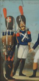 Photo 5 : « MANUSCRIT OTTO DE BADE » , GOUACHE ORIGINALE ALLEMANDE VERS 1807-1808, REPRÉSENTANT LES GRENADIERS À PIED DE LA GARDE IMPÉRIALE, PREMIER EMPIRE.