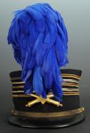 Photo 1 : KÉPI 'FOULARD' D'UN LIEUTENANT-COLONEL D'ARTILLERIE, modèle 1884 de seconde tenue vers 1910-1914.