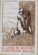 """"""" Le Lion de Belfort & Bartholdi - 1880/1980 """" - Chateau de Belfort - 1980 année du patrimoine"""