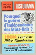 N°296 HISTORAMA. POURQUOI LA GUERRE D'INDÉPENDANCE DES ETATS UNIS? (1)