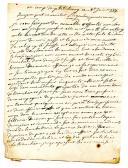 LETTRE SIGNÉE VILLER, depuis le camp de Philippsbourg le 8 juin 1734, à M. PETIT au parlement de Bordeaux, Guerre de succession de Pologne 1734.