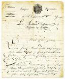 LETTRE DU SOLDAT DELPRENAUD, du 9ème régiment de Hussards, 4ème compagnie, 4ème escadron, À SON COUSIN, 14 octobre 1807.