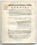 COUR DE JUSTICE CRIMINELLE DE LIMOGES : Mémoire, 1775, Ancienne Monarchie.