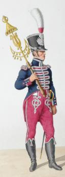 Photo 2 : 1816. Garde Royale. Infanterie (1e Régiment). Musicien, Tambour des Grendadiers