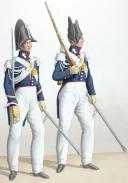Photo 2 : 1830. Garde Royale. Grenadiers à Cheval (2e Régiment). Brigadier, Grenadier.
