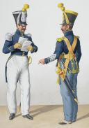 Photo 2 : 1830. Gendarmerie Royale. Bataillon de Voltigeurs Corses. Officier, Sergent-Major.