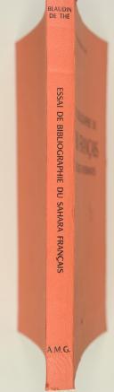 BLAUDIN DE THE. Essai de bibliographie du Sahara et des régions avoisinantes.  (2)