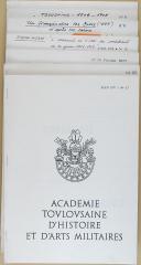 """GUEZE - """" Académie Toulousaine d'Histoire et d'Arts Militaires """" - Toulouse - Lot de 12 brochures dactylographiées - 1976 à 1981 (3)"""