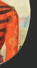COMMANDANT DE SPAHIS : PORTRAIT MINIATURE SUR IVOIRE SIGNÉ « PITTERS B » DATÉ 1848, SECONDE RÉPUBLIQUE. (3)