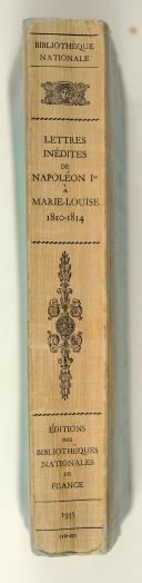 LETTRES inédites de Napoléon 1er à Marie-Louise,  (3)