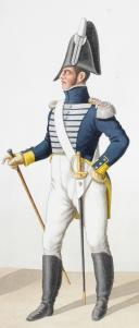1816. Garde Royale. Infanterie (3e Régiment). Fusilier, Adjudant. (2)
