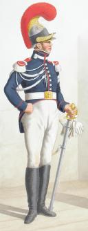 Photo 2 : 1817. Garde Royale. Cuirassiers (2e Régiment). Trompette, Cuirassier.