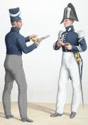 Photo 2 : 1830. Garde Royale. Grenadiers à Cheval (1er Régiment). Grenadier, Maréchal des Logis-Fourrier.
