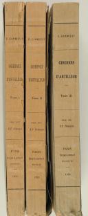 Gibernes d'artilleur. Paris, Berger-Levrault, 1923-1925, 3 vol.  (2)