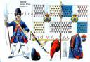 RIGO (ALBERT RIGONDAUD) : LE PLUMET PLANCHE AR21 : INFANTERIE GRENADIERS DE FRANCE DRAPEAUX 1759
