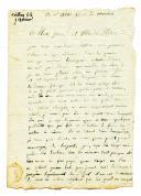 LETTRE DU SOLDAT MOILHEY, au 7ème de ligne, À SES PARENTS, son père est graveur à Paris, datée de Chambéry le 16 octobre 1806.
