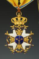 SUÈDE ORDRE DE L'ÉPÉE, CROIX DE COMMANDEUR ayant appartenu AU GÉNÉRAL DE BRIGADE Philippe Roger GOMBAUD DE SÉRÉVILLE, Troisième République.