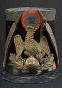 SHAKO D'OFFICIER DE CHASSEUR DE LA GARDE NATIONALE, MODÈLE 1837, MONARCHIE DE JUILLET. (2)