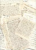 14 LETTRES DU COLONEL RAYMOND-JEAN BAPTISTE TEULET À SON ÉPOUSE ET À SON FILS pendant sa captivité à Palma et à Chesterfield, 1809-1813.