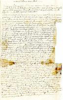 LETTRE DE SOLDAT, datée du 10 juillet 1747, RELATANT AVEC DÉTAILS LA BATAILLE DE LAWFELD.