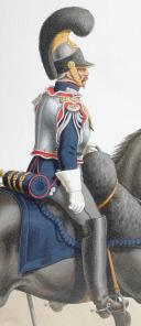 Photo 2 : 1820. Garde Royale. Cuirassiers (1er Régiment). Adjudant Sous-Officier, petite tenue.